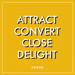 The 4 Stages of Inbound Marketing: Attract, convert, close, delight. Erin Schnittker   Forge Digital Marketing